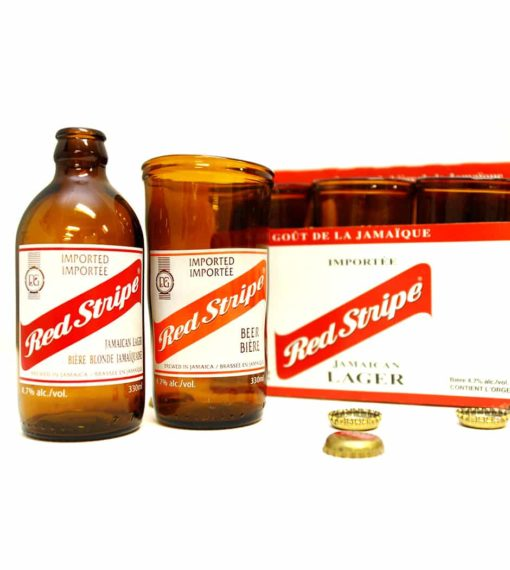 Red Stripe Beer Glass