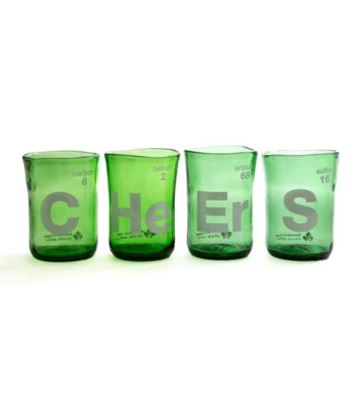 Cheers Wine Tumblers Green (Set of 4)