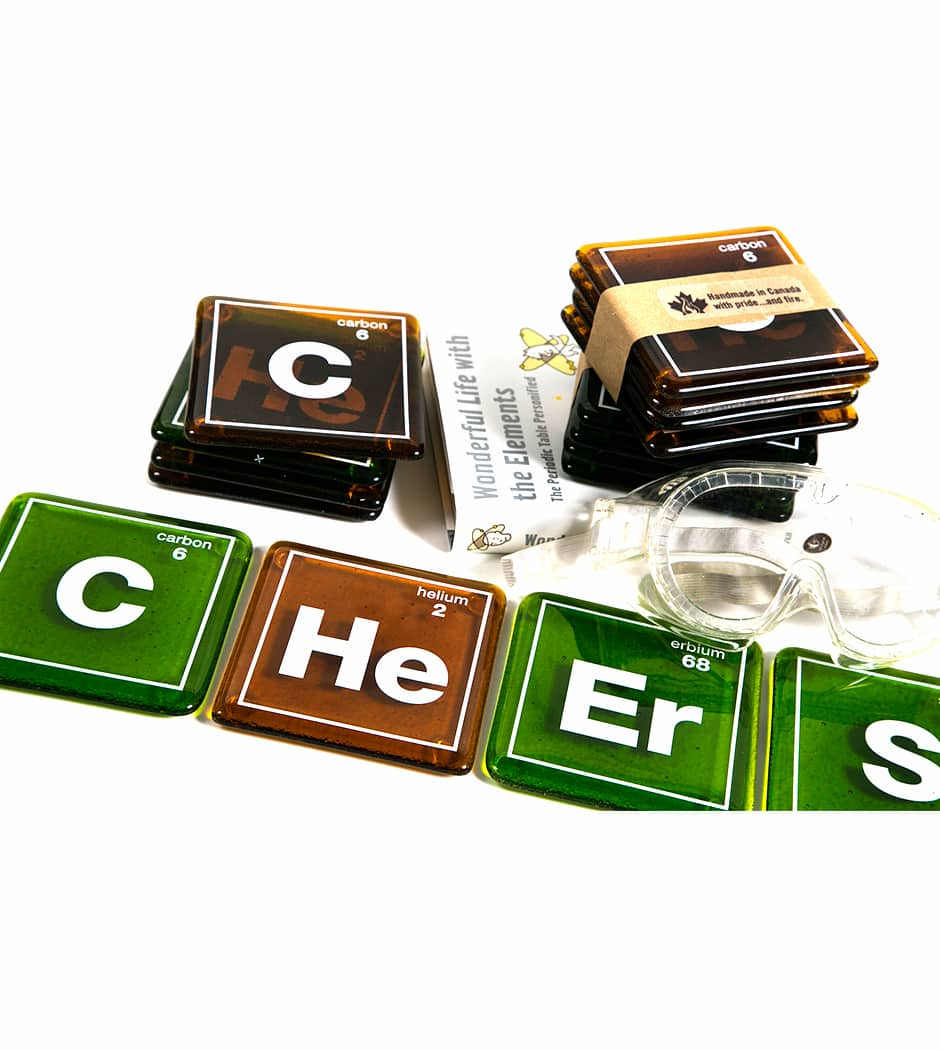 Cheers Element Coasters (Set of 4)
