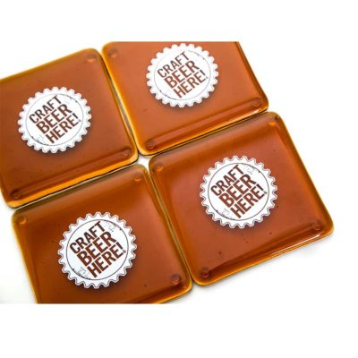 Craft Beer Here Coasters (Set of 4)