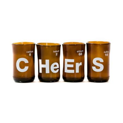 Cheers Wine Tumblers Brown (Set of 4)