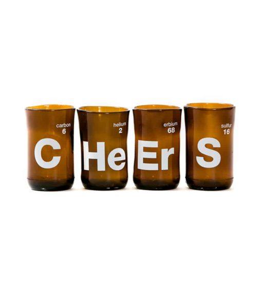 Cheers Wine Tumblers Brown (Set of 4)