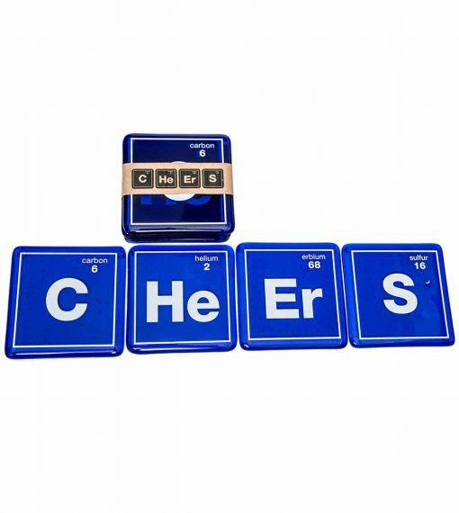 Cheers Blue Coasters (Set of 4)