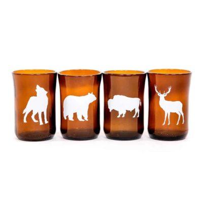 Large Northern Animal Set (4 glasses)