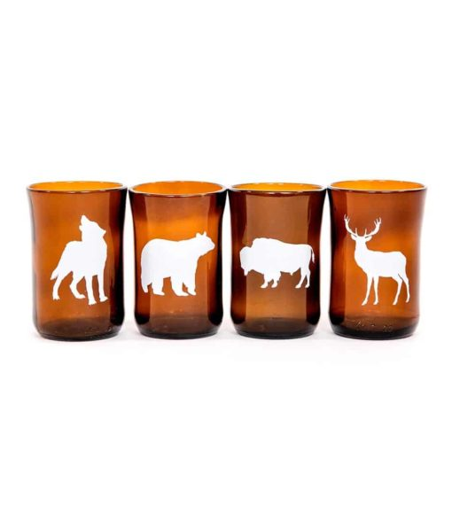 Large Northern Animal Set (4 glasses)