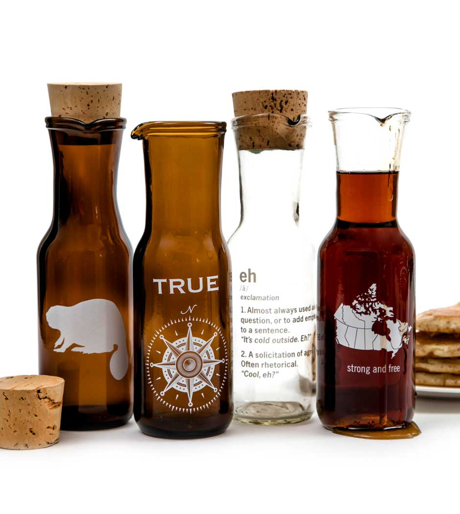 Maple Syrup Carafes - Amber