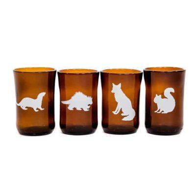 Small Northern Animal Set (4 glasses)