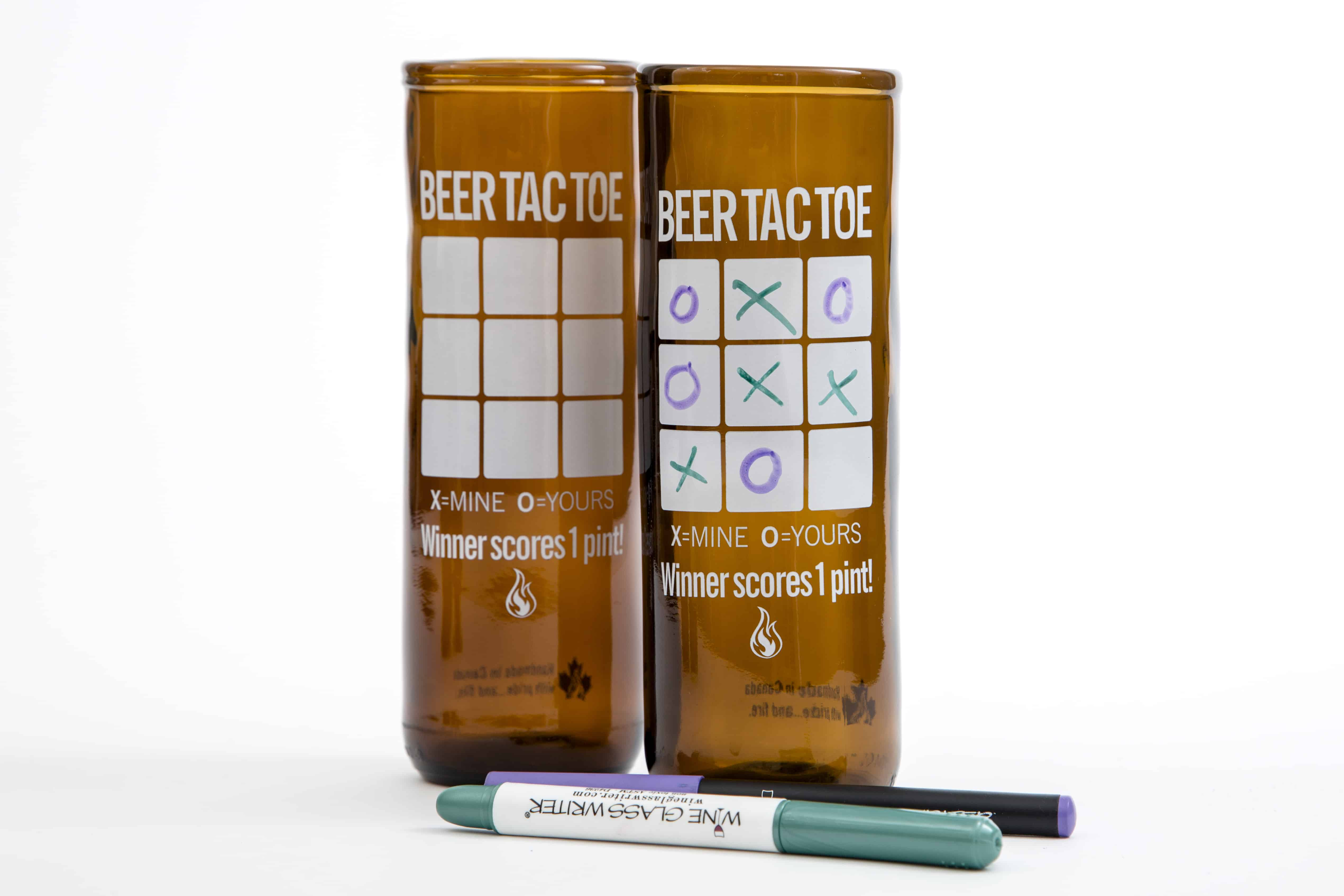 Beer Tac Toe Beer Glass