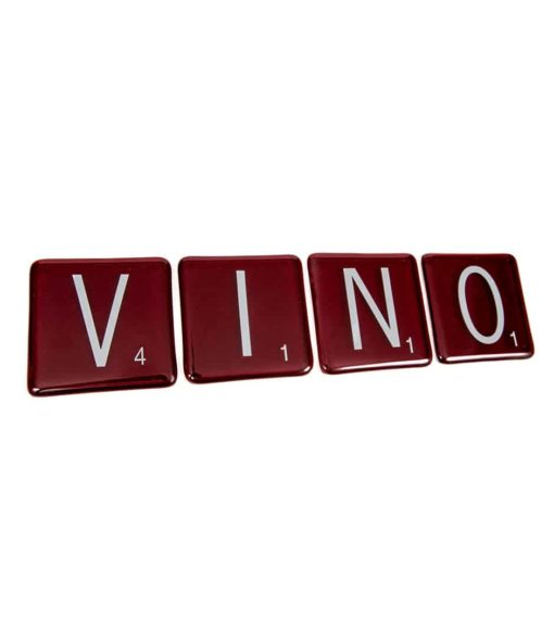 VINO Scrabble Coasters (Set of 4)