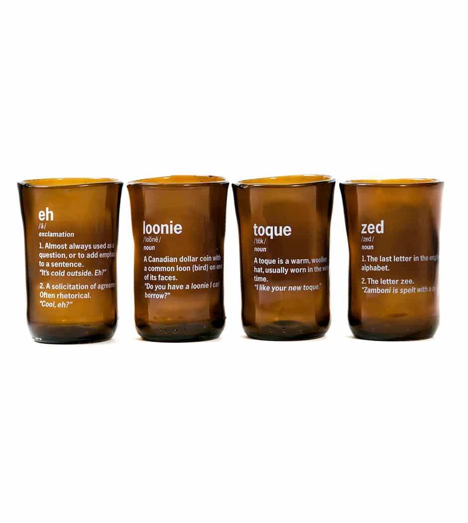Canadianism Tumblers- set of 4